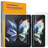 NEWZEROL 4 Stück TPU Displayschutzfolie Kompatibel für Samsung Galaxy Z Fold 3 5G, Enthält 2 Stück Innen Displayschutzfolie und 2 Stück Außen Displayschutzfolie,Umfassender Schutz [Maximale Abdeckung]
