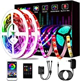 15M Led Strip, L8star LED Streifen Farbwechsel Led Lichterkette Lights, RGB Led Bänder Strips Sync zur Musik Anwendung für Schlafzimmer (2x7.5m)…
