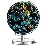 THj Beleuchteter Weltkugel für Kinder, 3 in 1 Weltkugel Erdkugel mit LED-Nachtlichtlampe, politischer Karte und Sternbild, A, 20 cm