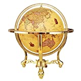 YUXIwang World Globe. Home Beleuchtete Weltkugel mit Metallbasis detaillierte Weltkarte, Bildungsgeschenk, Nachtständer Dekor