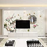 Blume und Vogel TV Hintergrund Tapete Pflaumenblüte Wandbild Antike Tapete Wohnzimmer Sofa Schlafzimmer Wandverkleidung