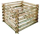 Gartenpirat Komposter 90x90 cm mit Stecksystem aus Holz kesseldruckimprägniert 380 L