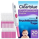 Clearblue Kinderwunsch Ovulationstest Digital - Fruchtbarkeitstest für Eisprung, 20 T