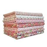 7 Teile/Satz Baumwolle Stoff zum nähen quilten Patchwork heimtextilien rosa Serie Tilda Puppe körper Tuch
