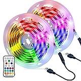 6M LED Streifen OMERIL USB LED Strip Wasserdicht LED Band RGBW mit Fernbedienung, LED Leiste Lichtband mit 16 Farbwechsel, 4 Modi, Verstellbare Helligkeiten/Geschwindigkeit für Haus, Küche, Party usw