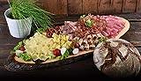 WURSTBARON® Wurstplatten-Paket - Set aus verschiedenem Wurst- und Käse Aufschnitt und Holzofenbrot