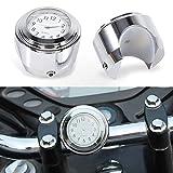 Keenso Motorrad Lenkerhalterung Uhr Überzug Shell weiße Aluminiumlegierung Griff Motorraduhr Uhr eingebaute Batterie