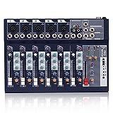 CIFE 7-Kanal-Bluetooth-Karaoke-Mixer Reverb-Effekt USB Live Studio Audio-Mischpult-Mikrofon-Soundkarte Für DJ KTV Party