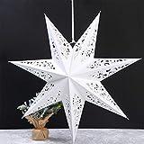 BESPORTBLE Papierstern Lampenschirm Aushöhlen Sterne Papier Weiß Faltsterne 45cm Hängeleuchtenschirm Hochzeit Geburtstag Weihnachten Party Festival Hängende Weihnachtsdekoration Stil B