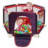 Soul hill Kinder 6-Panel-beweglichen waschbar Aqua Play Center Zaun mit atmungsaktivem Mesh for Babys Kleinkind Neugeborenes Kind, Indoor- und Outdoor-Play (rot) zcaqtajro