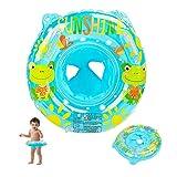 EKKONG Baby Schwimmring, Schwimmhilfe Baby, Baby Float, Schwimmring Aufblasbarer, Schwimmsitz Baby, Schwimmhilfe Spielzeug für Kleinkind 6 Monate bis 36 Monate (Frosch, Blau)