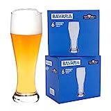 Van Well 12er Set Bavaria Weizenbiergläser klar   Bierglas geeicht bei 0.5L   Weizenglas   Weißbier-Glas   Gastro   Hotel-Restaurant & Bar