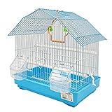 Vogelkäfig Voliere Sittich Kanarienvögel mit Hopped Drinking Feeder Swing zum Ausruhen Zufällige Farbe 34x23,5x36 cm