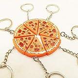 LYLY Schlüsselbund Kreative koreanische Simulation Pizza Anhänger Schlüsselanhänger Resin Schlüsselketten for Geschenkartikel Werbe Food Series Zubehör Schlüsselanhänger (Color : Pizza)