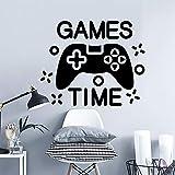 Gamers Wandaufkleber Spielzeit Video Geschenke Spielzimmer Dekoration Jungen Zimmer Aufkleber Wandaufkleber Wallpaper A5 57X46CM
