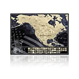 USA Rubbelkarte mit Staaten Flaggen - Rubbelkarte zum Reisen zu verfolgen - Made in Europe - 42cm x 29.7cm