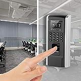 SALUTUY Fingerabdruck-Anwesenheits-Zugriffscontroller Kunststoff-Farbdisplay kann 1800 Fingerabdrücke und 60.000 Datensätze speichern, unterstützt mehrere Sprachen Language