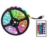 LED Strip Lights 16 Farben RGB Color Changing LED Strip Lights Komplettset mit Fernbedienung, USB 5V Schnittstelle, Home TV Dekoration Küche DIY
