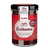 Xucker Fruchtaufstrich Erdbeere mit Xylit - Fruchtiger Brotaufstrich Erdbeere mit 74% Fruchtgehalt I vegan & zuckerarm (220g)