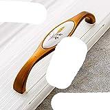 Möbelgriff aus Keramik, Antik-Optik, bronzefarben, für Schrank, Tür, europäischer Möbelgriff, Hardware-Griff, 3001-128C
