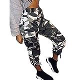 LEEDY Damen Camouflage Hose Mädchen Military Hose Hip Hop Jogger Trainingshose Cargohosen Camohose Militär Armee Lange Hosen Hip Hop Tanz Hose