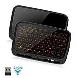 SZILBZ Mini Tastatur Wireless mit Touchpad, Smart TV Tastatur Fernbedienung, 2.4 GHz Kabellose Backlit Englisch Layout Tastatur Beleuchtet für Android TV Box/Projector/IPTV/HTPC/PC/Laptop/Linux
