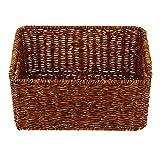WINOMO Schrankkorb Regalbox Kunststoff Rattankorb Aufbewahrungskorb Lagerkorb Ablagekorb Dekobox Make Up Organizer Küchenkorb für Badezimmer Küche Wohnzimmer Deko