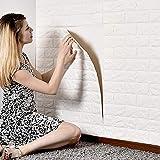 MorNon 5X 3D Ziegel Tapete Selbstklebend Wandpaneele Steinoptik Tapete Schaumstoff Wasserfest Wandaufkleber für Badezimmer Balkon Kü
