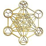 ZenVizion Metatron-Würfel, Wanddekoration, Mandala, heilige Geometrie, Wandkunst, Yoga-Dekor, Kristallgitter, Holzkunst-Symbol, Meditationsdekoration, spirituelle Dekoration, 34,3 cm