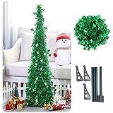 Künstlicher Lametta Pop-Up-Weihnachtsbaum mit Ständer, wunderschöner Faltbarer künstlicher Weihnachtsbaum Größe 1 Farbe grün