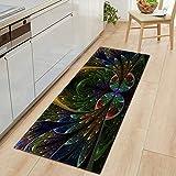 Eingang Fußmatte Küchenmatte Home Schlafzimmer Flur Bodenteppich Dekoration Flanell Teppich Badezimmer rutschfeste Matte A10 40x120cm