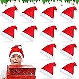 Sunshine smile 12 Stück Weihnachtsmützen,Weihnachtsfeier Hut,Weihnachtsdekoration Hut,Hüte für Erwachsene,weihnachtsmütze Set,Nikolausmütze,Verdicken Weihnachtsfeier