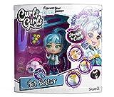 Curli Girls 82086 Curli Girls-82086-Beauty Set Haustier-Frisierpuppe-magische Haare-Puppe 15 cm-Tier 6 cm-bunt