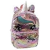 Rucksack für kleine Mädchen,Wendbarer Pailletten Kinder Pailletten Schultasche Tagesrucksack für Kleinkinder Mädchen Kindergarten Rucksack 1-6ages
