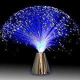 Glasfaserleuchte Fiber Optic Brunnen Nachtlicht beruhigende Lampe, LED Farbwechsel Glasfaserlampe mit Multicolor für die Dekoration(Mehrfarbig)