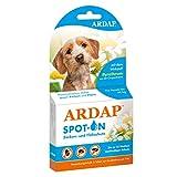 ARDAP Spot On - Zecken & Flohschutz für Hunde bis 10kg - Natürlicher Wirkstoff - 3 Tuben je 1ml - Bis zu 12 Wochen nachhaltiger Langzeitschutz