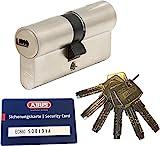ABUS EC660 Profil-Doppelzylinder Länge (a/b) 45/50mm (c=95mm) mit 6 Schlüssel, mit Sicherungsk