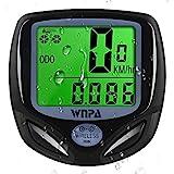 WNPA Fahrradcomputer kabellos, Fahrrad-Tachometer Wasserdichtes 16 Funktionen Kilometerzähler-LCD-Display zum Radfahren