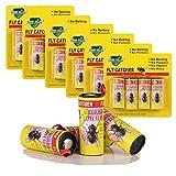 LATERN 24 Stück Fliegenfänger Rollen Insektenfänger Fliegenfalle Umweltfreundlich Giftfrei Insekten-Klebe-Falle gegen Fliegen, Mücken und Motten