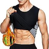 Tooklanet Hemd für Herren Schweiß Weste Neopren Sauna Taille Trainer Weste Body Shaper Abnehmen Workout Tank Tops für Gewichtsverlust Fatburner