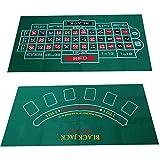 Ranana Pokermatte Spieltischdecke Doppelseitiges Muster Filz Vliestuch Wasserdicht Tischset Blackjack Roulette Tischdecke,Faltbare Tischauflage Casino Pokertischauflage Trustworthy