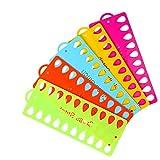 JUN-H 10 Stücke Kreuzstich Fadenhalter Stickgarn Veranstalter 20 Positionen Kunststoff Stickerei Floss für Gewinde Sewing Craft DIY Karte Thread Organizer(Zufällige Farbe)