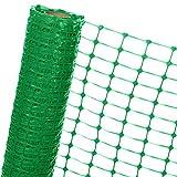 HaGa® Absperrzaun 1,2m x 100m - Bauzaun Zaun mit 120g/m² - Baustellenzaun Kunststoffzaun Gartenzaun in grün