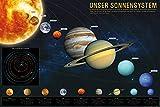 1art1 Das Sonnensystem Poster (91x61 cm) Unser Sonnensystem für Kinder und Erwachsene, Weltall Universum Poster, Kosmos Fotoposter 91 x 61 cm