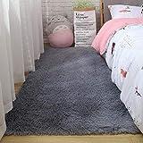 SDFCZ Flauschiger Teppich mit Batikfärbung, für Schlafzimmer, Dekoration, modern, Heimboden, groß, handwaschbar, Nordica, Wohnzimmer, weich, weiß, zottelig