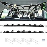 Topoloar 7 Stange Angelrutenhalter Träger für Fahrzeuge, 2er Pack Auto Angelrutenhalter Riemen mit Metallschnalle, einstellbar 29 bis 60 Zoll für LKW SUV, Waggons, Van