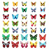 STOBOK Schmetterlinge Kuchenaufsätze Essbare Papier Kuchenaufsätze 120 Stück