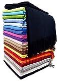 STTS International Baumwolldecke Wohndecke Kuscheldecke Tagesdecke 100% Baumwolle 130 x 170 cm sehr weiches Plaid Rio Schwarz