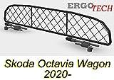 ERGOTECH Trennnetz Trenngitter Hundegitter SKODA Octavia Combi RDA65-XXS16, für Hunde und Gepäck.