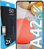 [2 Stück] 3D Schutzfolien kompatibel mit Samsung Galaxy A42 5G, hüllenfreundliche transparente HD Displayschutz-Folie, Schutz vor Schmutz und Kratzern, kein Schutzglas - smart Eng